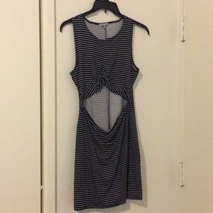 Striped mini-dress